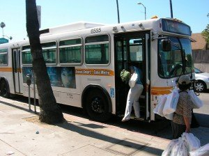 Bus blind spots